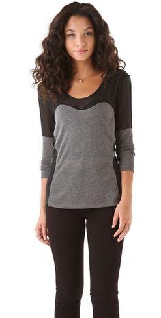 LNA Ashford Semi Sheer Sweater