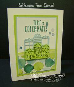 Stampin' Up! Celebration Time Bundle, Celebration Time stamp set, Celebration Thinlits, Stampin' Studio