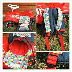 Eine Kindergartentasche wollte ich ursprünglich für meine Kleine nähen. Doch dann sah ich den Rucksack Lieselotte bei Liebeling und war v...