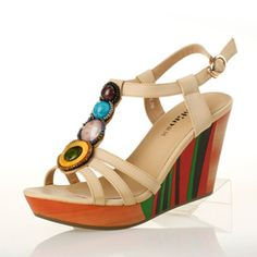 Sandals 2013 summer new Bohemian national wind beaded wedge sandals waterproof Taiwan high-heeled sandals shoes from taobao
