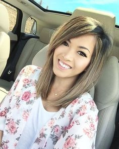 sunday fun day what're you guys up to today Hairstyles For Fat Faces, Side Bangs Hairstyles, Lob Hairstyle, Midi Hair, Short Hair Cuts, Short Hair Styles, Hair Color And Cut, Hair Colour, Trending Haircuts