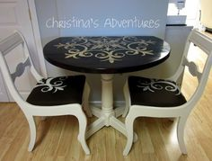 Painted Table Top by cathryn