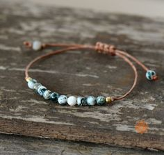 Boho Bracelet Handmade Natural Stone Wax Cord – Jewelry - To Have a Nice Day Leather Jewelry, Boho Jewelry, Jewelry Crafts, Beaded Jewelry, Gemstone Jewelry, Jewelry Ideas, Beaded Necklaces, Gemstone Bracelets, Statement Necklaces