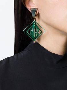 Msgm Geometric Clip-on Earrings - Voga - Farfetch.com