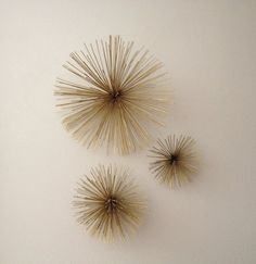 Mid Century  Urchin Starbust Pom Pom Metal Wall by Modernismus, $150.00