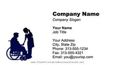 Man In Wheelchair Business Card Company Slogans, Company Names, Hospice, Doctors, Nursing, Business, Cards, House, Free