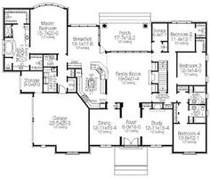 *great* Finally a fairly good 1 story fl plan! Has a 2nd story for a media room and j's library. beds, play, theater, study, etc. Need 3 or 4 tandem GAR; hid Pntry, JJ bath & Mud, stairs landing or lift & slide.