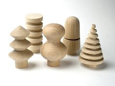 Five wooden trees from DesignfürsHeim's Spring 2011 collection. They can be used as coat hooks, drawer pulls or simply as decor. www.designfuersheim.bigcartel.com 89,90 euros