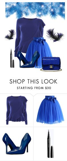 """Blue"" by terezkasvitilova ❤ liked on Polyvore featuring Karen Millen, Chicwish, GUESS, Chanel, set, Blue and women"