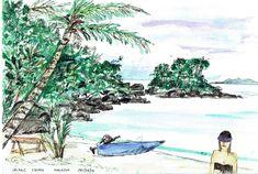 Malaysia - Salang beach 1993 #PieterCronjeArt # Malaysia Faces, Beach, Painting, Art, Art Background, The Beach, Painting Art, Kunst, The Face