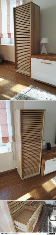 Chiffonnier Chêne 7 tiroirs par Nico39 - Voila le meuble vas être chez son propriétaire la semaine prochaine. Une création de plus fini, quelques erreurs mais c'est comme cela qu'on apprend. Chiffonnier en chêne huilé 7 tiroirs sur roulette...