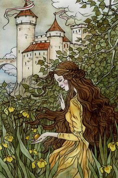 The Frog Prince: Golden Ball by Liga Klavina / liga-marta Images Esthétiques, Art Ancien, Fairytale Art, Fairytale Drawings, Book Illustration, Fairy Tale Illustrations, Conte, Art Inspo, Character Art
