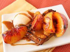 poundcake & grilled peaches... yum
