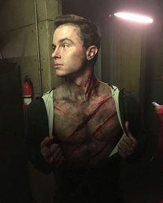 Ryan Kelley on the set of Teen Wolf!