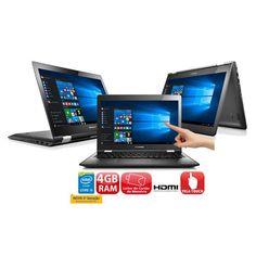 """Notebook 2 em 1 Touch Lenovo Yoga 500 com Intel® Core™ i5-5200U, 4GB, 1TB, Leitor de Cartões, HDMI, Wireless, Bluetooth, Webcam, LED 14"""" e Windows 10"""