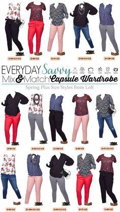 029886b94f0 Loft Plus Size Outfits - Mix   Match Capsule Kleiderschrank für den  Frühling  capsule