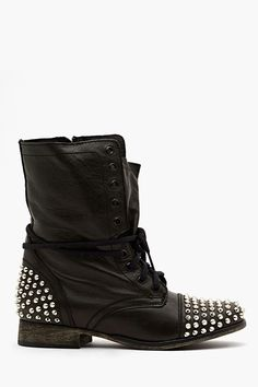 Studded Combat Boot..have a pair and I've worn them so much some of the studs are missing...lol