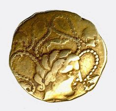 Gold Coin of the Parisii. 2nd century BCE. The Celts probably began striking coins in the 200 year BCE, after receiving gold and silver pieces from Hellenistic kings who employed Celtic warriors as mercenaries.