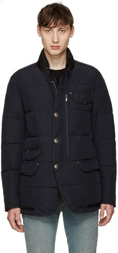 parajumpers mens guily downjacket blue black