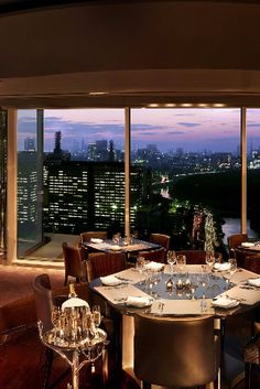 Peter restaruant has jaw-dropping views of the Tokyo skyline and Imperial Palace Gardens. The Peninsula Tokyo (Tokyo, Japan) - Jetsetter