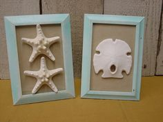 BEACH COTTAGE DECOR / Pair of frames with sand by SophiesCottage, $17.95