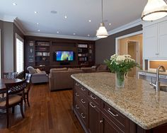 Kitchen Cherry Cabinets With Off White Granite Design, Pictures, Remodel, Decor and Ideas - page 3