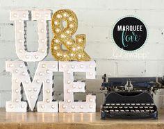 Marquee letters, letras luminosas, letras decoración bodas, wedding letters, letras con luces