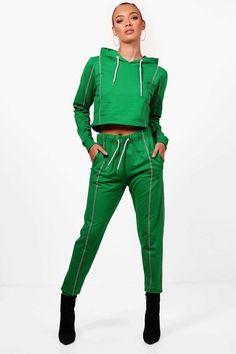 2f6c944c44c6 boohoo Steph Fit Athleisure Crop Hooded Tracksuit Athleisure, Fitness,  Clothes, Boohoo, Athletics