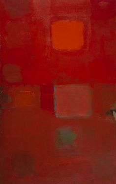 Red and Orange in Art / Heron, Patrick - Square Sun, January 1959 - Abstract Expressionism - Abstract - Oil on canvas Abstract Oil, Abstract Expressionism, Abstract Landscape, Patrick Heron, Tate Gallery, Colour Field, Painting & Drawing, Sculpture Art, Oil On Canvas