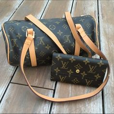 Louis Vuitton Purse and Matching Wallet Excellent condition! Used once. BOTH SOLD TOGETHER. Price reflects authenticity ✨ Perfect to give as a Christmas gift! PINK Victoria's Secret Bags