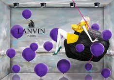 Complementario Visual Merchandising Concepts for Lanvin by Silvia Teh,Singapore, pinned by Ton van der Veer Window Display Design, Shop Window Displays, Store Displays, Lanvin, Marketing Visual, Retail Windows, Shop Windows, Clothing Displays, Visual Display