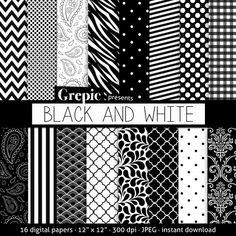 papel decorado a cuadriculado negro blanco y dorado - Buscar con Google