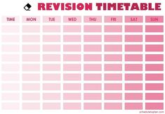 Revision Timetable Template, Revision Planner, Study Planner, Schedule Templates, Templates Printable Free, Planner Template, Study Schedule, Class Schedule, Exam Time