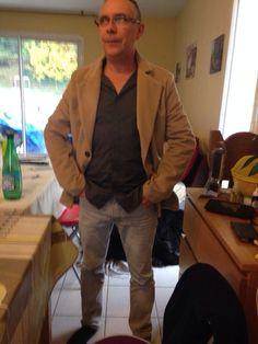 veste souple du livre casual wear homme - Les créations de la Cigale!