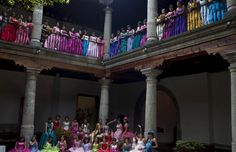 Check out massive Quinceañera Party in Mexico City (celebrating 15 year olds) such great colors!