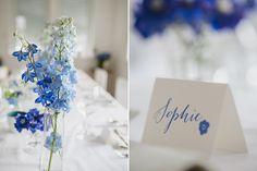 Blaues Hochzeitskonzept