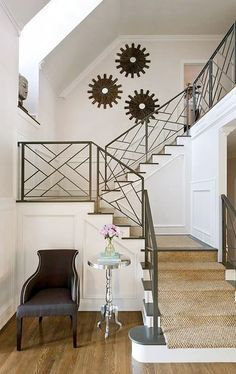 Chic Stair Railing / The English Room Blog