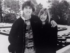 George with Jenny Boyd, sister of Pattie- same day that Pattie took her last picture with George...