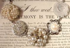 Vintage Earring Bracelet- I need these as a necklace to go with a dress I'm wearing to a wedding.