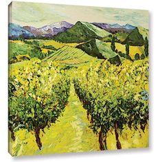 ArtWall Allan Friedlander A Good Year Gallery-Wrapped Canvas, Size: 36 x 36, Brown