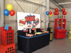 You need to see this superhero birthday party! See more party ideas at CatchMyParty.com!