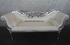 Fabulous Baroque Decorator Louis XV Style Glamorous French Reproduction Wedding Sofa