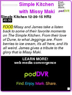 Simple Kitchen With Missy Maki food #podcast the kitchen recessionista podcast the kitchen