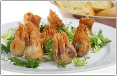 Bacon Mushroom Phyllo Bundles