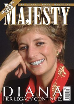 Majesty Magazine cover,  so lovely. Follow RUSHWORLD! We're on the hunt for everything you'll love. Enjoy RUSHWORLD boards, DIANA PRINCESS OF WALES EXTENSIVE PHOTO ARCHIVE and UNPREDICTABLE WOMEN HAUTE COUTURE.