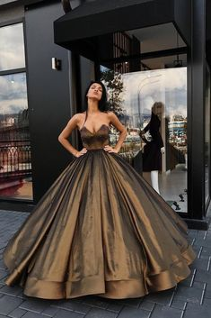 Ball Gown Sweetheart Brown Long Strapless Beads Sleeveless Quinceanera Dresses uk PM774
