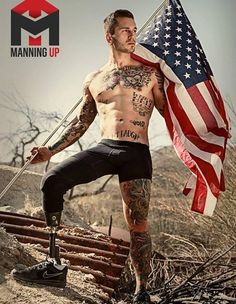 Once a Marine fighter - and now a successful model !