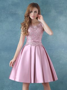 comprar Correas elegante Bowknot vestido rodilla vestido de Cóctel de encaje Online ,precio: USD$99.19