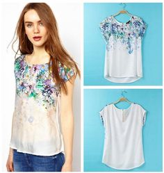 Tops Women Floral Print Sleeveless Summer Silk Blouse Soft Fashion Shirts High Quality by Smartmart Online with $7.74/Piece on Smartmart's Store | DHgate.com