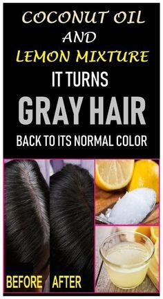 Grey Hair Remedies, Natural Remedies, Natural Hair Treatments, Hair Loss Remedies, Shampoo Herbal Essences, Natural Hair Care, Natural Hair Styles, Natural Beauty, Natural Oil
